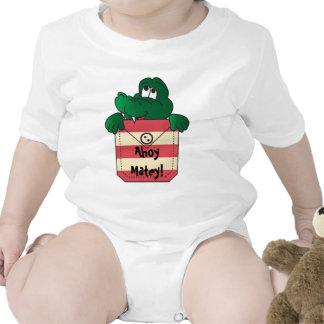 Ahoy Matey Baby Shirt. Baby Creeper