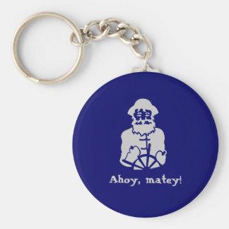 Ahoy, matey! basic round button key ring