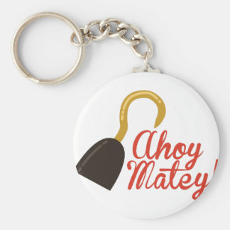 Ahoy Matey! Basic Round Button Key Ring