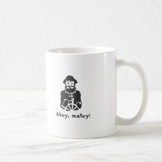 Ahoy, matey! basic white mug