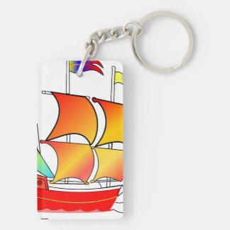 Ahoy, Matey! Double-Sided Rectangular Acrylic Key Ring