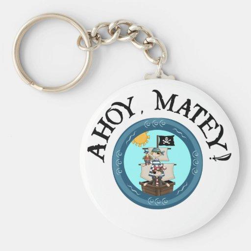 Ahoy Matey Key Fob Keychains