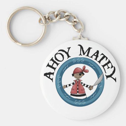 Ahoy Matey Patcheye Pirate Keychain Key Chains