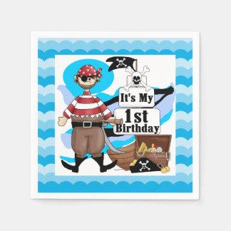 Ahoy Matey Pirate 1st Birthday Paper Napkins