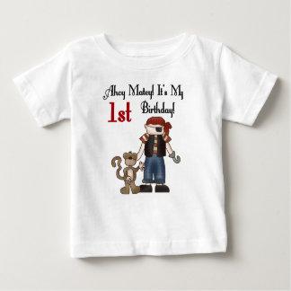 Ahoy Matey Pirate 1st Birthday Tshirt