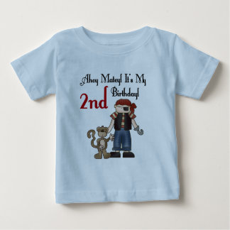 Ahoy Matey Pirate 2nd Birthday tshirts and Gifts