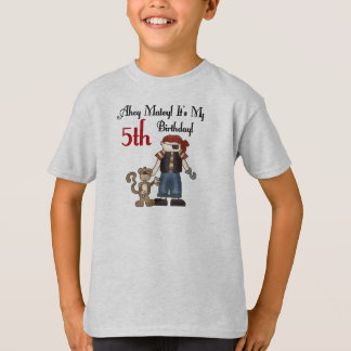 Ahoy Matey Pirate 5th Birthday T-Shirt