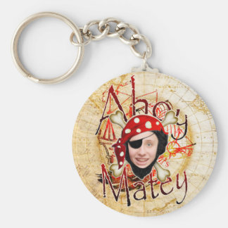 Ahoy Matey Pirate Basic Round Button Key Ring