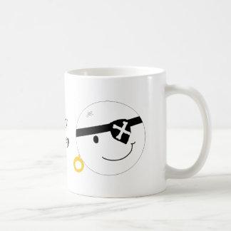 Ahoy Matey Pirate Face Basic White Mug