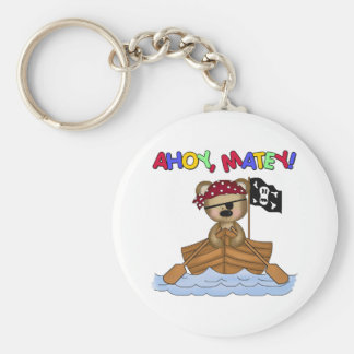 Ahoy Matey Pirate Gift Basic Round Button Key Ring