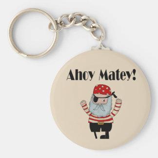 Ahoy Matey Pirate Keychain