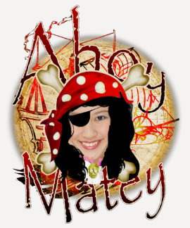 Ahoy Matey Pirate photo t-shirt for women