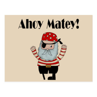 Ahoy Matey Pirate Postcard