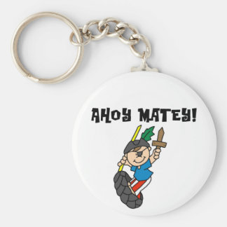 Ahoy Matey Pirate T-shirts and Gifts Key Chain
