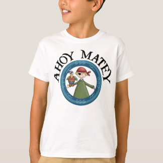 Ahoy Matey Pirate with Parrot Shirt