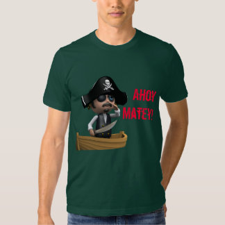 Ahoy Matey Sinking Ship 3d Pirate Tshirt