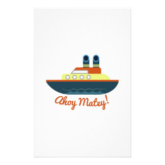 Ahoy Matey Stationery Design