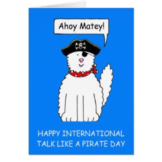 Ahoy Matey Talk like a Pirate Day Greeting Card
