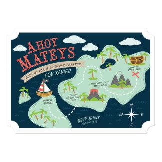 Ahoy Mateys Birthday Invite