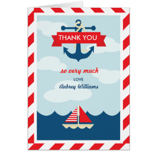 Ahoy! Nautical Thank You Card