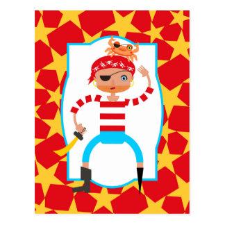Ahoy Pirate kids Birthday Party Postcard