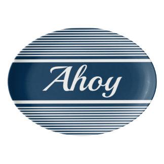 Ahoy Porcelain Serving Platter