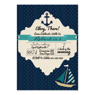 Ahoy There! Birthday Invitation
