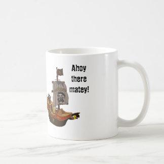 Ahoy there matey basic white mug