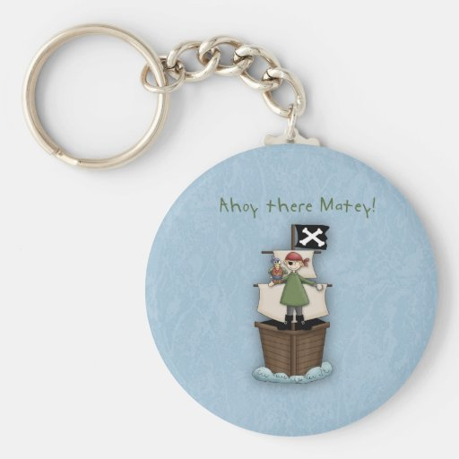 Ahoy There Matey!      Pirate Party Key Chain