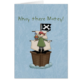 Ahoy there Matey!  Thank you  notes Greeting Card