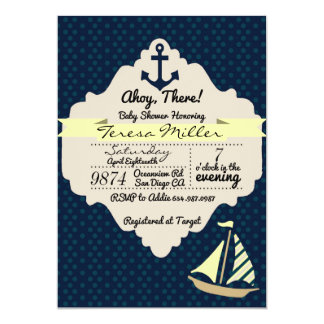 Ahoy There! Unisex Baby Shower Invitation
