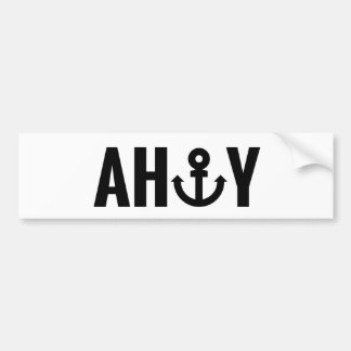 Ahoy with anchor bumper sticker