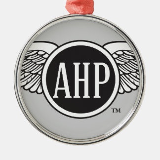 AHP Wings - B&W Silver-Colored Round Decoration