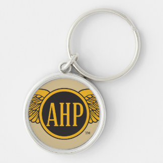 AHP Wings - Color Silver-Colored Round Key Ring