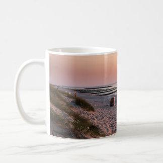 Ahrenshoop beach sunset coffee mug