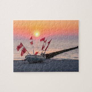 Ahrenshoop sunset jigsaw puzzle
