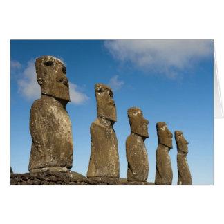 Ahu Akivi, Rapa Nui, Easter Island, Chile 2 Greeting Card