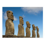 Ahu Akivi, Rapa Nui, Easter Island, Chile 2 Post Cards