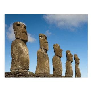 Ahu Akivi, Rapa Nui, Easter Island, Chile 2 Postcard