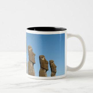 Ahu Akivi, Rapa Nui, Easter Island, Chile 2 Two-Tone Coffee Mug