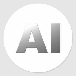 AI artificial intelligence Round Stickers