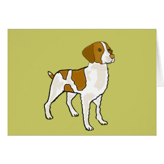 AI- Brittany Spaniel Notecards Card