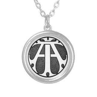 AI Coin Monogram in Gothic Letters Jewelry