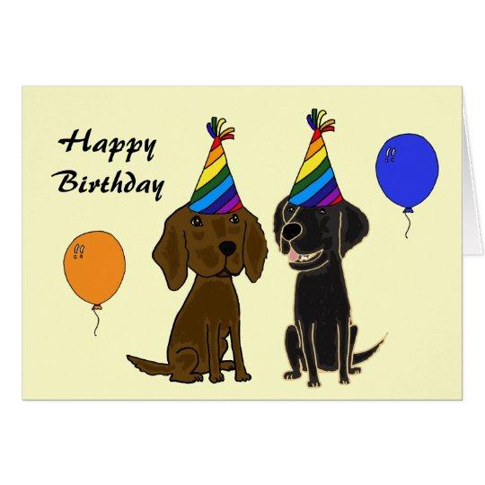 AI- Flatcoated Retriever Birthday Card
