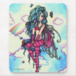 Aia Fairy Butterfly Sky Fairy Mouse Pad