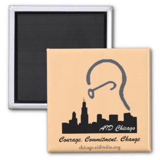 AID Chicago Square Magnet