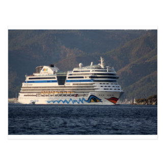 Aida Stella Cruise Ship Leaving Marmaris Postcard