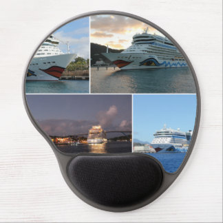 AIDAluna Cruise Ship Collage Gel Mouse Mat