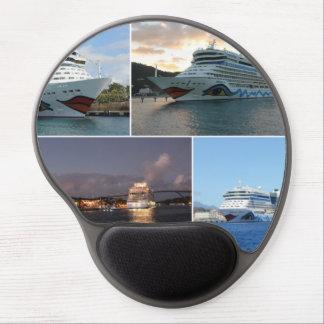 AIDAluna Cruise Ship Collage Gel Mouse Pad