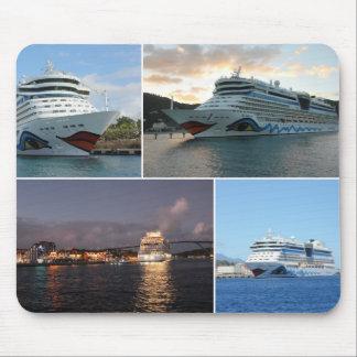 AIDAluna Cruise Ship Collage Mouse Mat